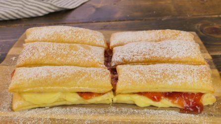 Sfogliatine crema e marmellata: la ricetta dei dolcetti velocissimi e golosi