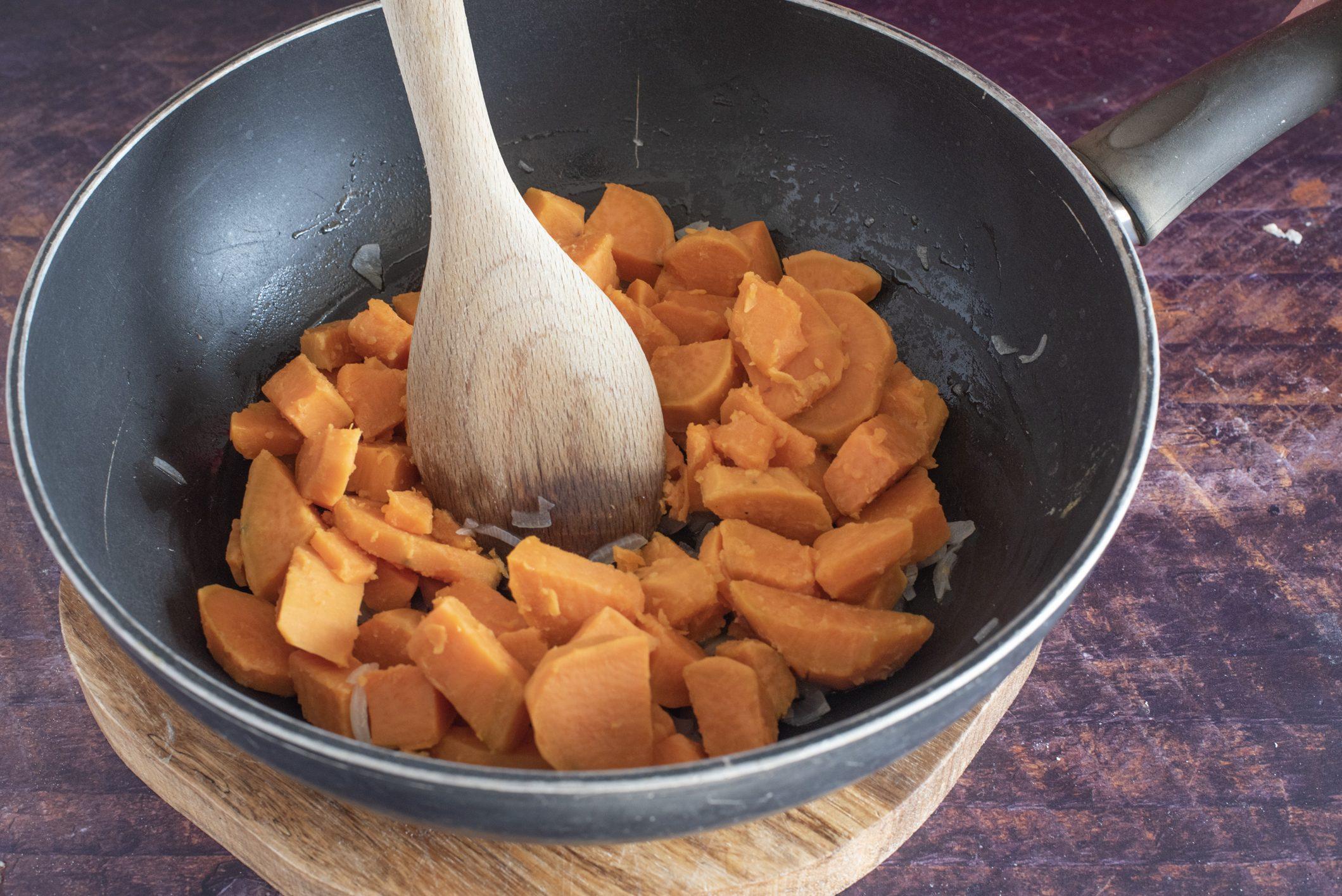 Sformato di patate dolci e feta