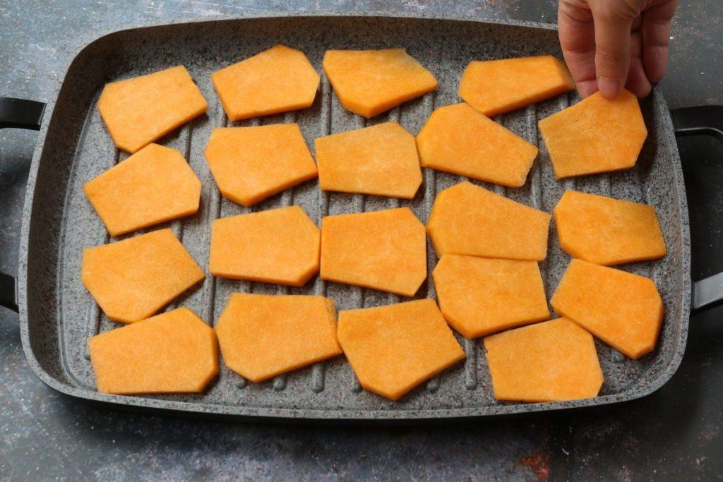 cuocere la zucca sul grill