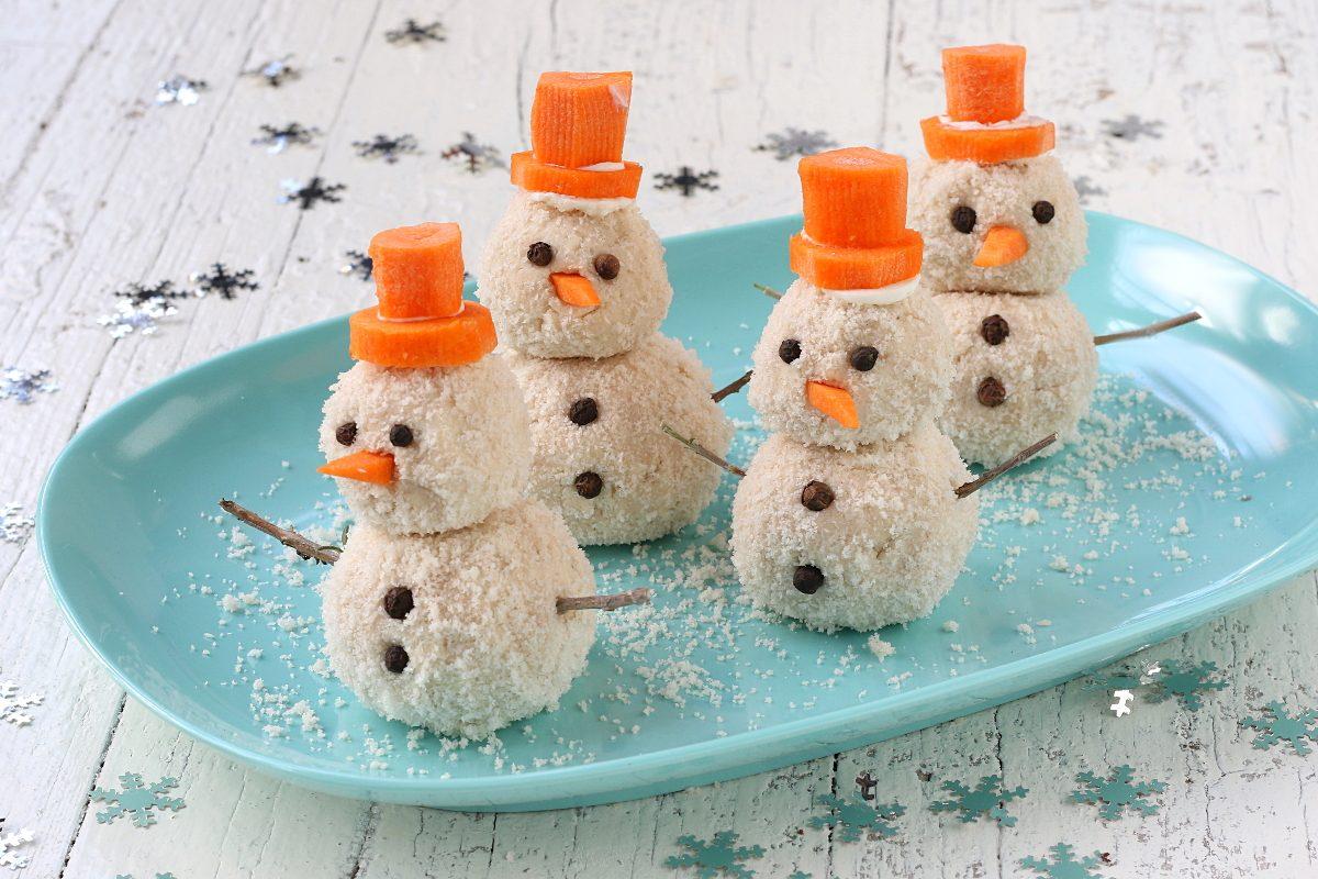 Pupazzi di neve salati: la ricetta dell'antipasto divertente e saporito