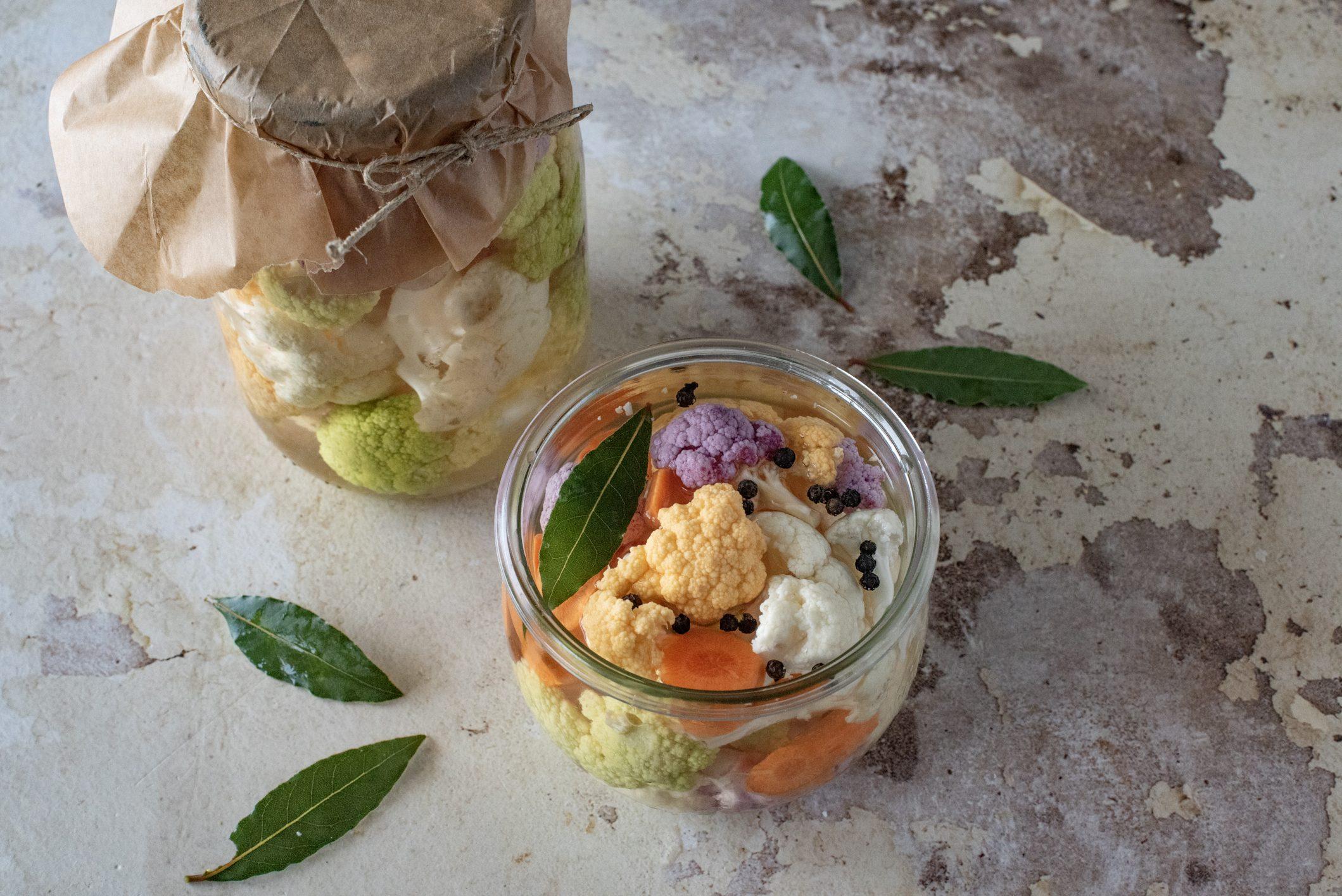 Cavolfiore sott'aceto: la ricetta della conserva semplice e gustosa