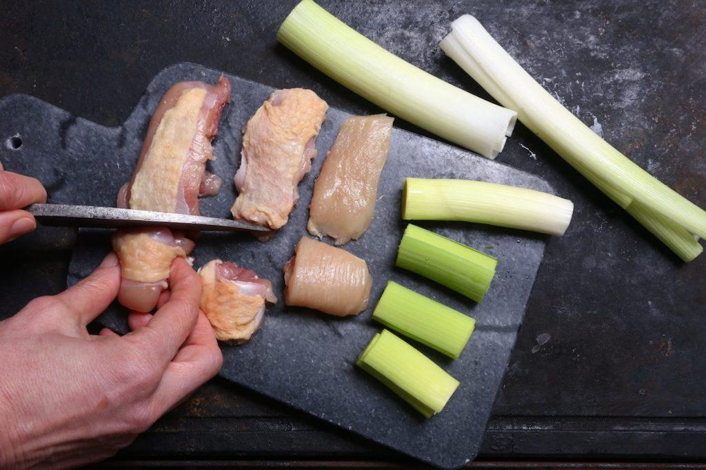 2_tagliate pollo e porri_yakitori©Gooduria lab