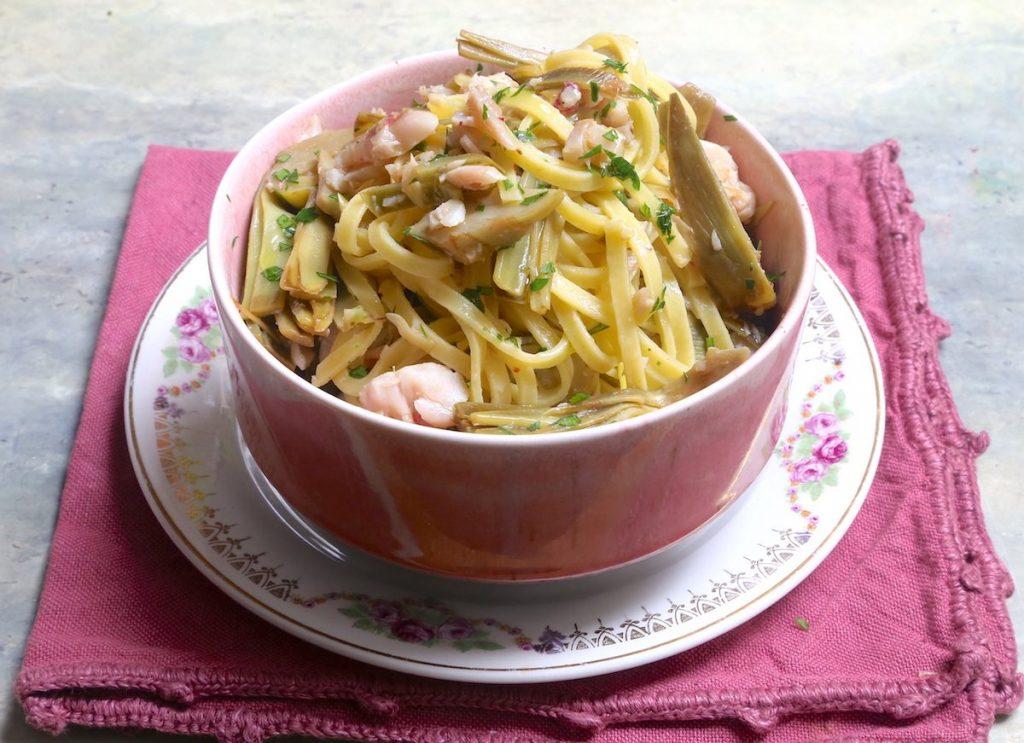 5_servire la pasta_pasta carciofi e triglie@Gooduria lab
