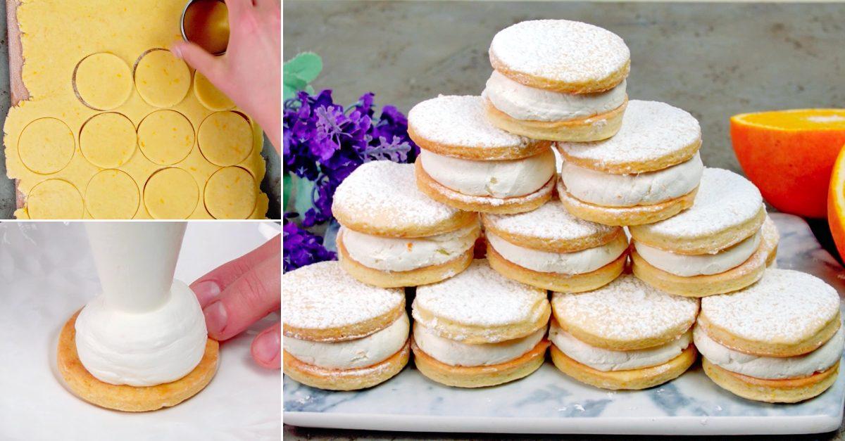 Biscotti paradiso: la ricetta dei biscotti con friabile pasta frolla e crema golosa