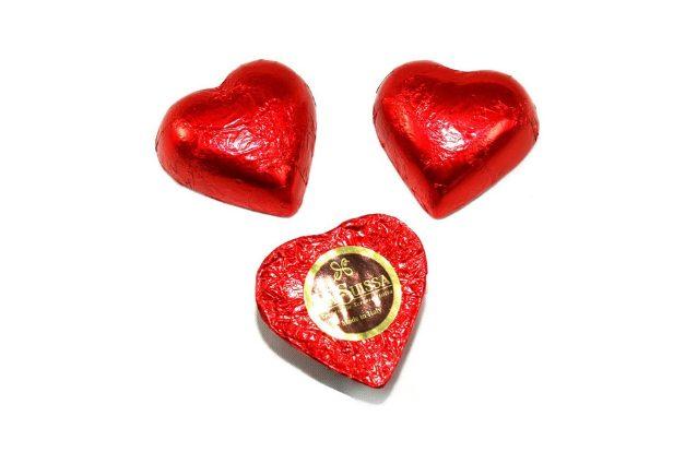 cioccolatini a forma di cuore per San Valentino La Suissa