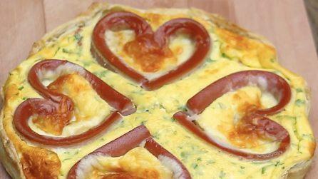 Quiche di San Valentino: la ricetta della torta salata semplice e romantica