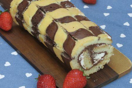 Rotolo zebrato: la ricetta del dolce morbido e delizioso