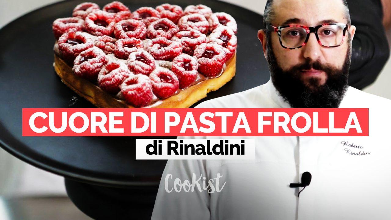 Il dolce di San Valentino di Roberto Rinaldini: la video ricetta della crostata a cuore