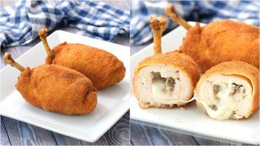 Pollo ripieno di formaggio e funghi: la ricetta del secondo piatto sfizioso e saporito