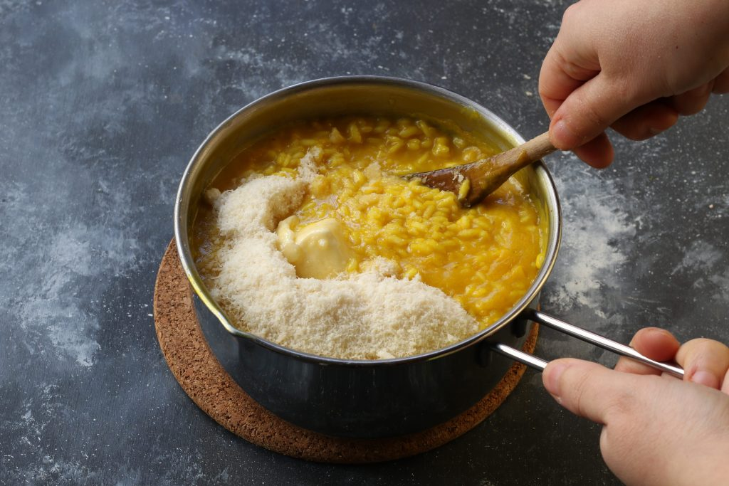 mantecare il risotto