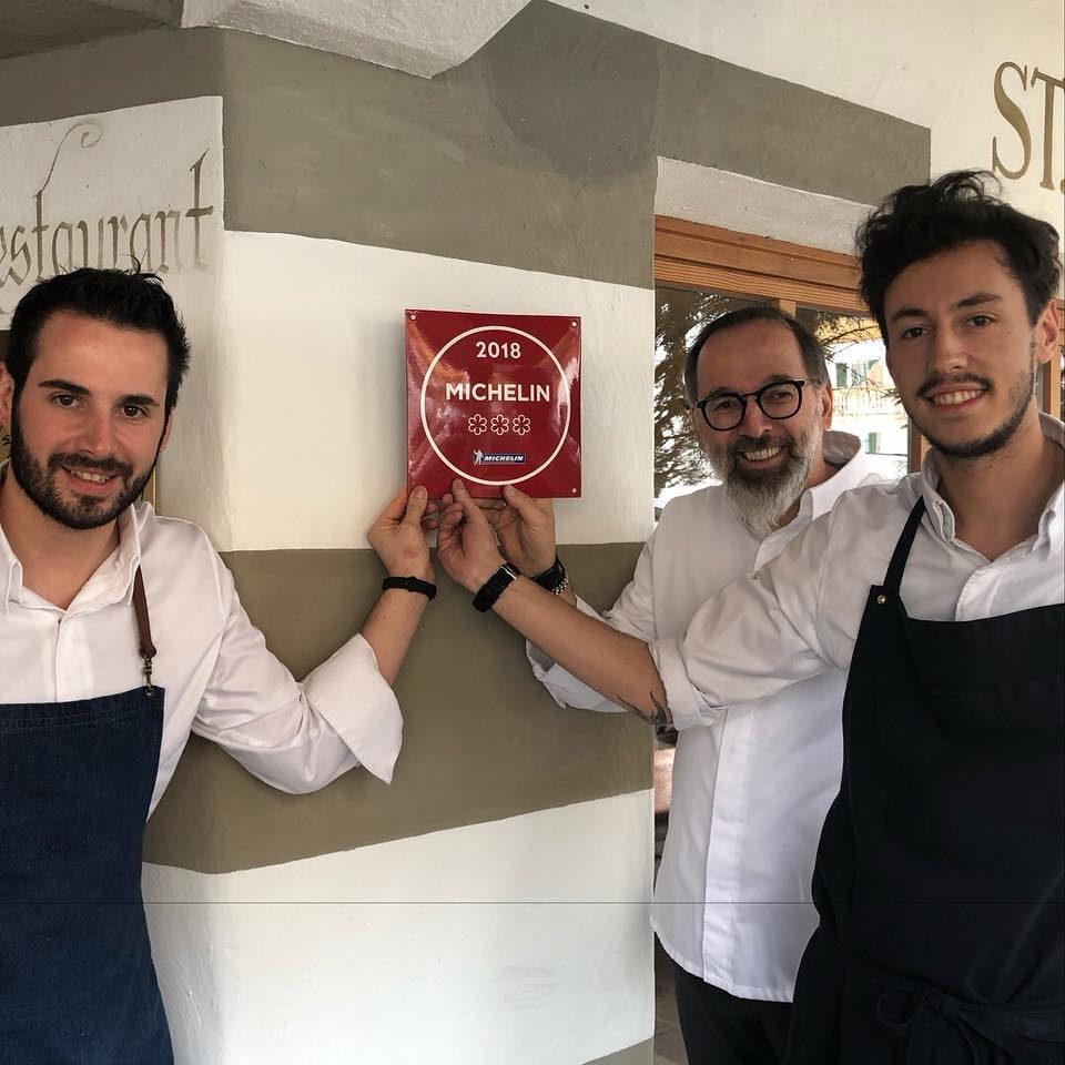 Andrea Tortora, Norbert Niederkofler e Michele Lazzarini