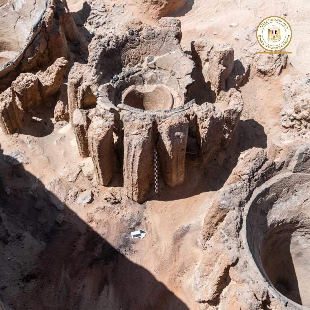 Le vasche per la birra, foto dalla pagina Facebook del Ministero del Turismo e delle Antichità