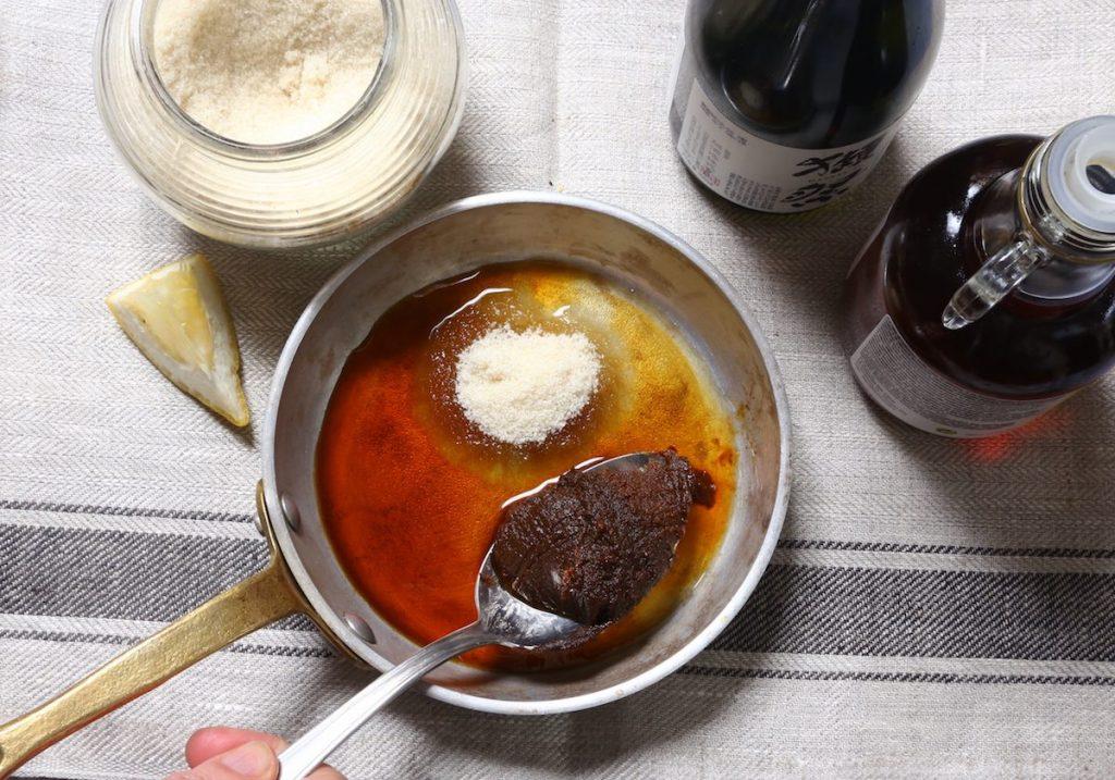 4_preparazione salsa_daikon stufato©Gooduria lab