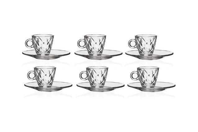 tazzine da caffè in vetro eleganti Bormioli