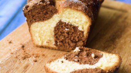 Pan bauletto a scacchi: la ricetta del dolce soffice con impasto bicolore