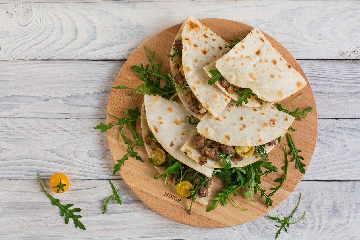 Piadina con farina di ceci: la ricetta semplice e light senza glutine
