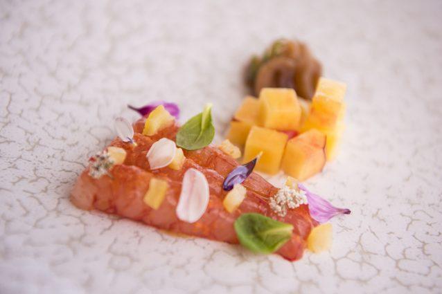 Gambero Rosso di Salina con Blody Mary, Frutta e Limone Salato ph. Gio Martorana
