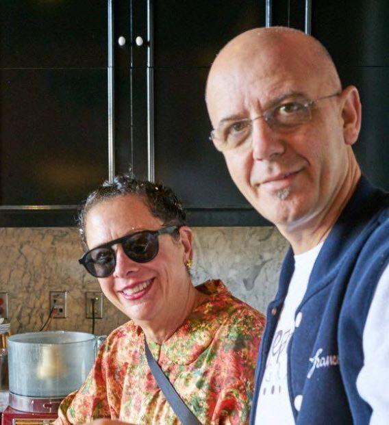 Nancy Silverton con Franco Pepe a Caiazzo