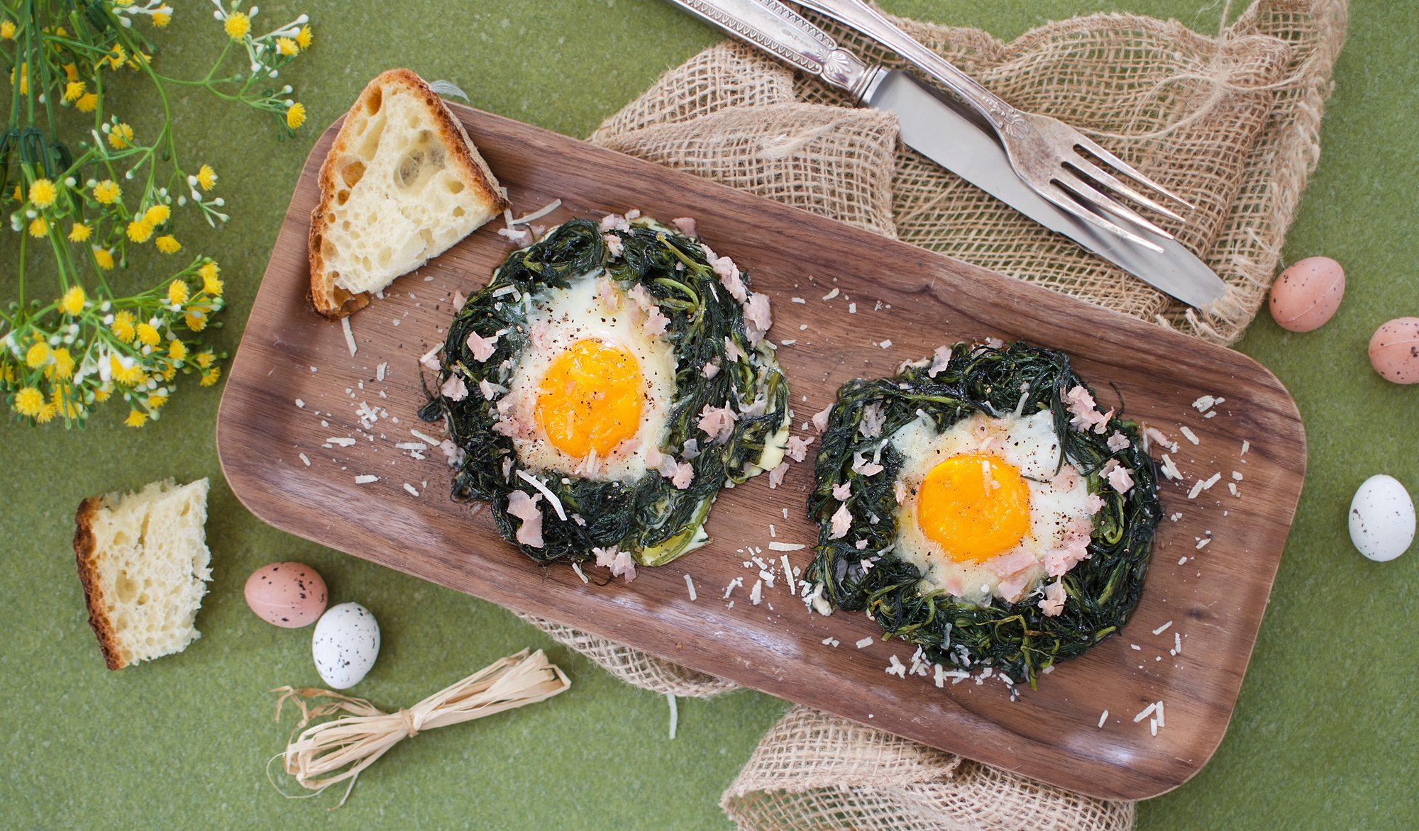 Nidi di agretti con uova: la ricetta sfiziosa per la tavola di Pasqua
