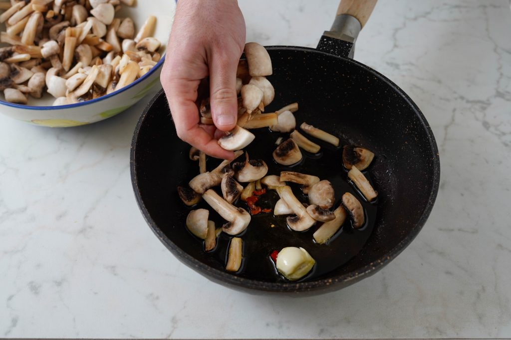 cuocere funghi