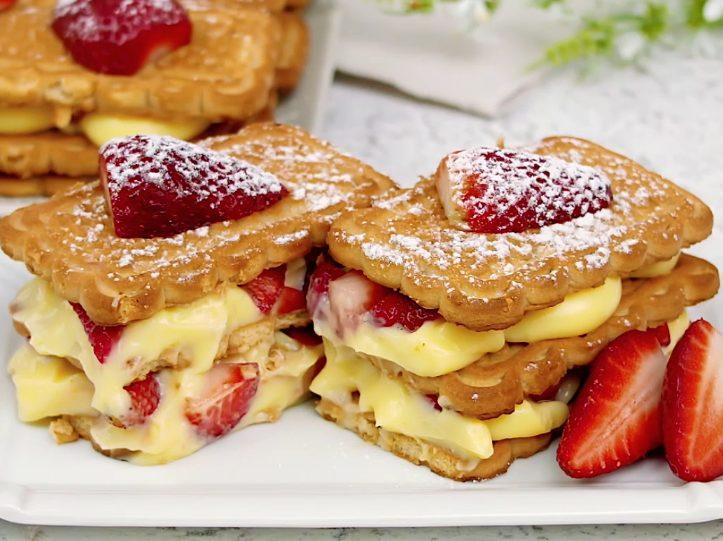 Mattonella alle fragole: la ricetta del dolce senza cottura semplice e delizioso