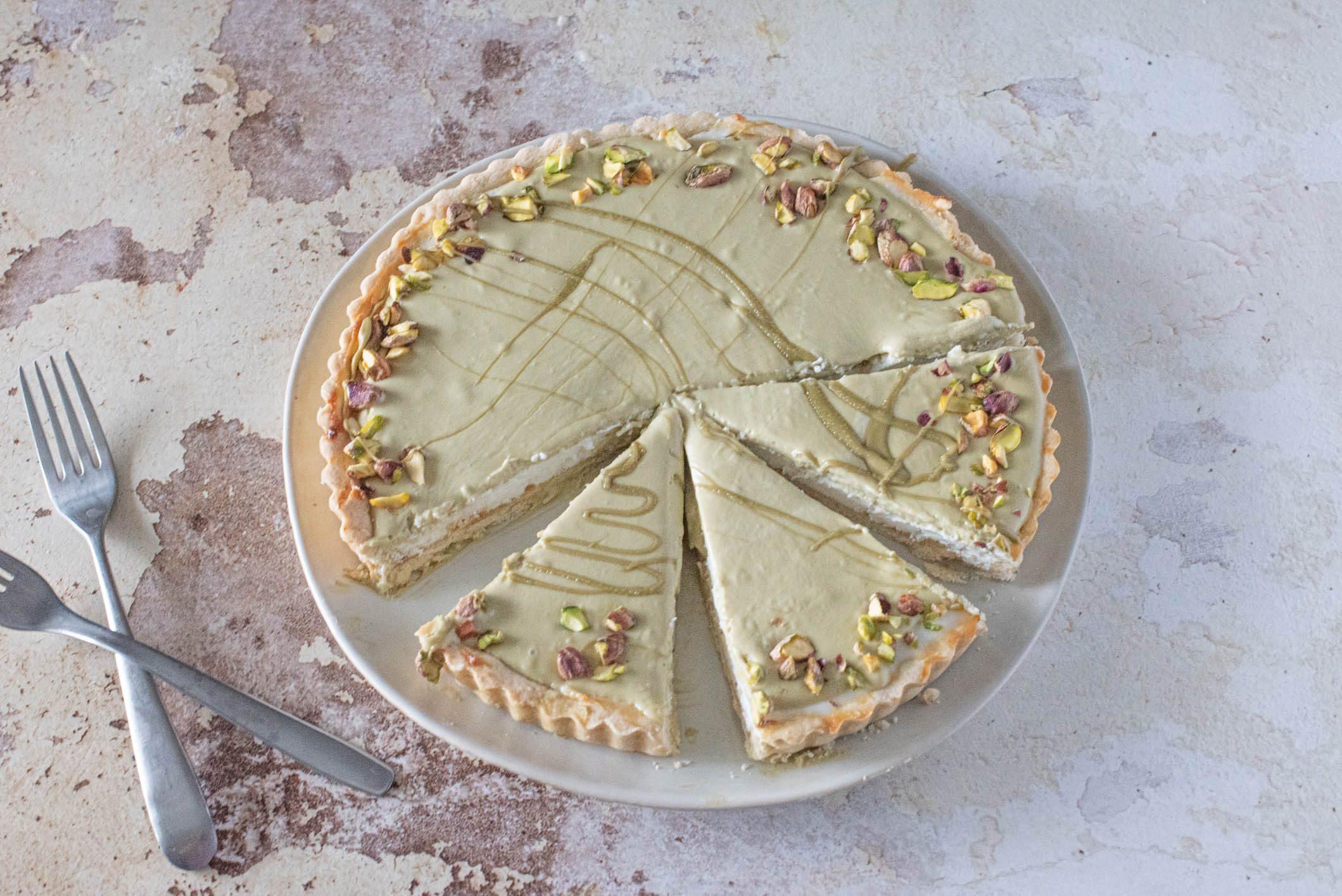 crostata ricotta e pistacchi