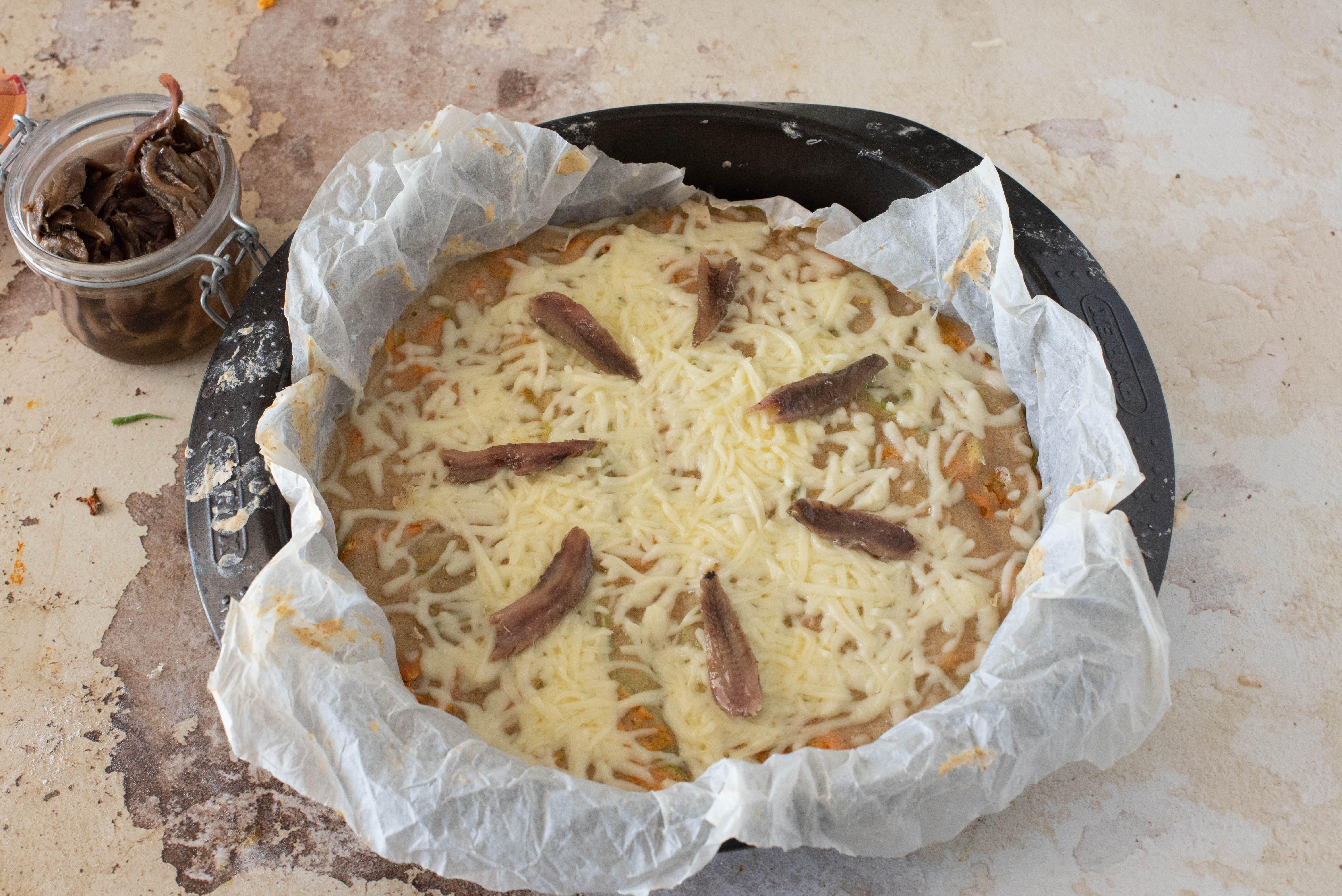 Pizza di fiori di zucca di mamma Graziella
