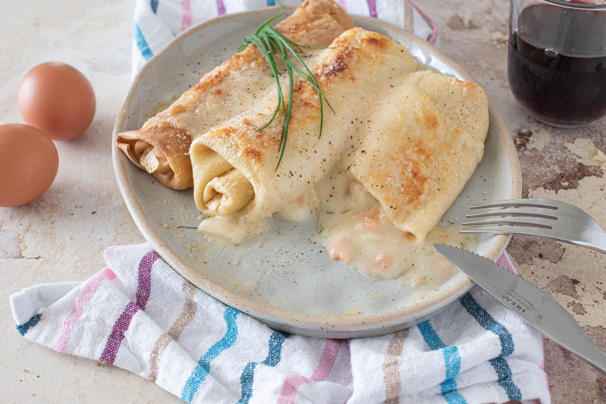 Crespelle al salmone: la ricetta del piatto semplice e raffinato