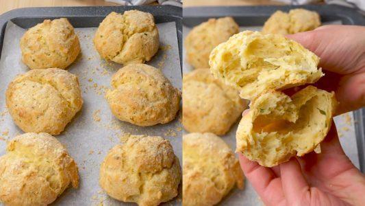 Panini furbi: la ricetta dei panini al formaggio senza lievitazione