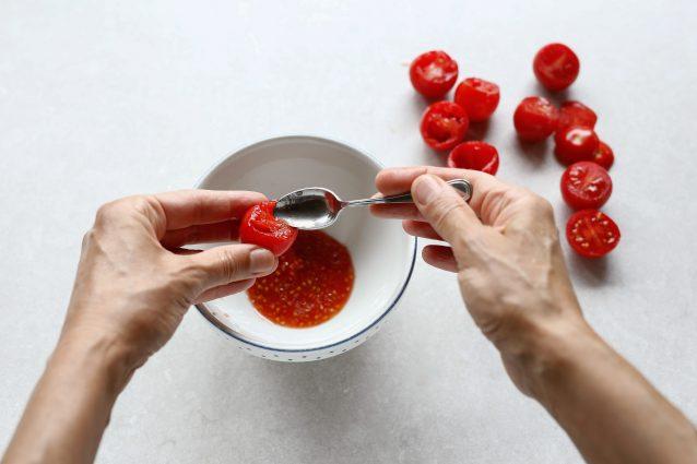 pasta pomodorini gratinati