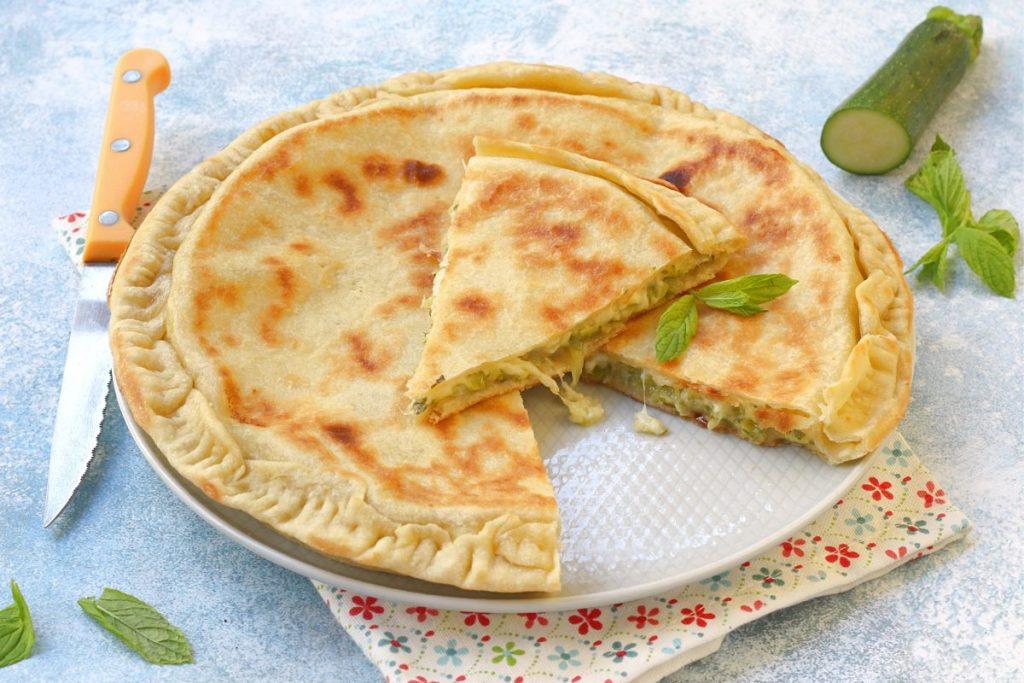 Crostata zucchine e formaggio in padella