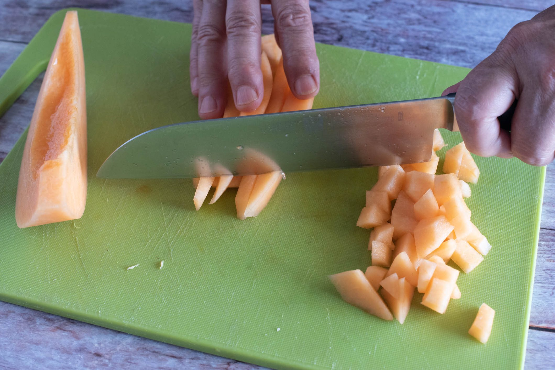 Insalata di melone con i friggitelli
