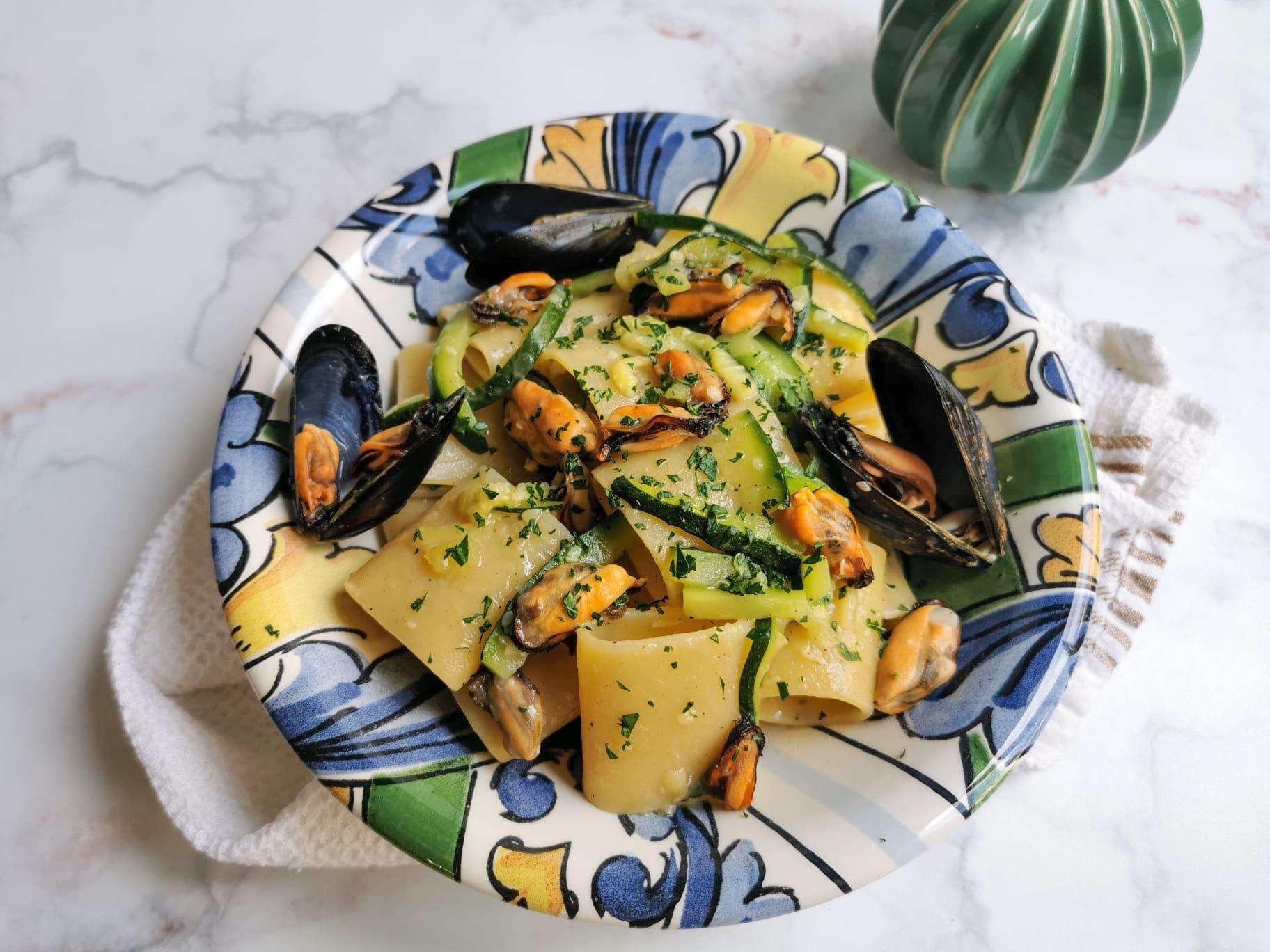 Pasta zucchine e cozze
