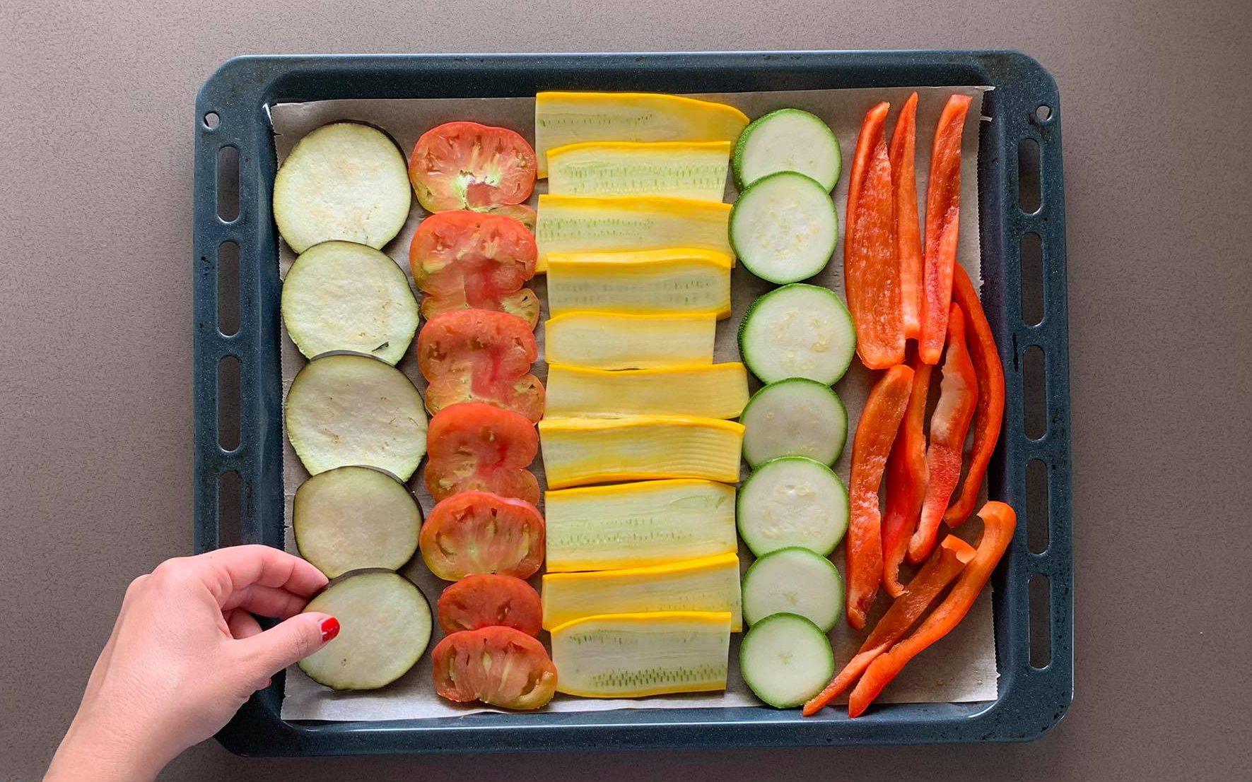 sistemare verdure
