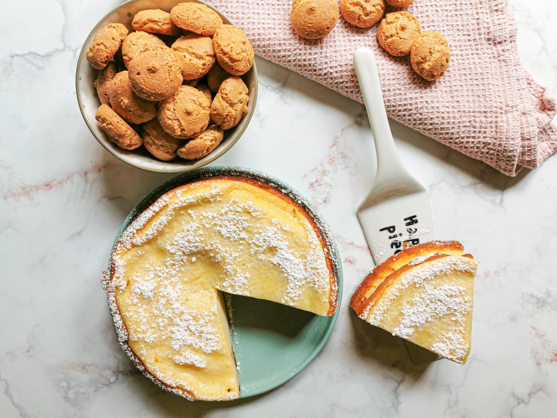 Torta senza glutine ricotta e amaretti: il dessert morbido e goloso