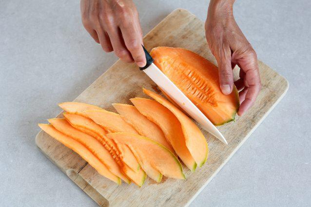 Caprese con melone e fagiolini