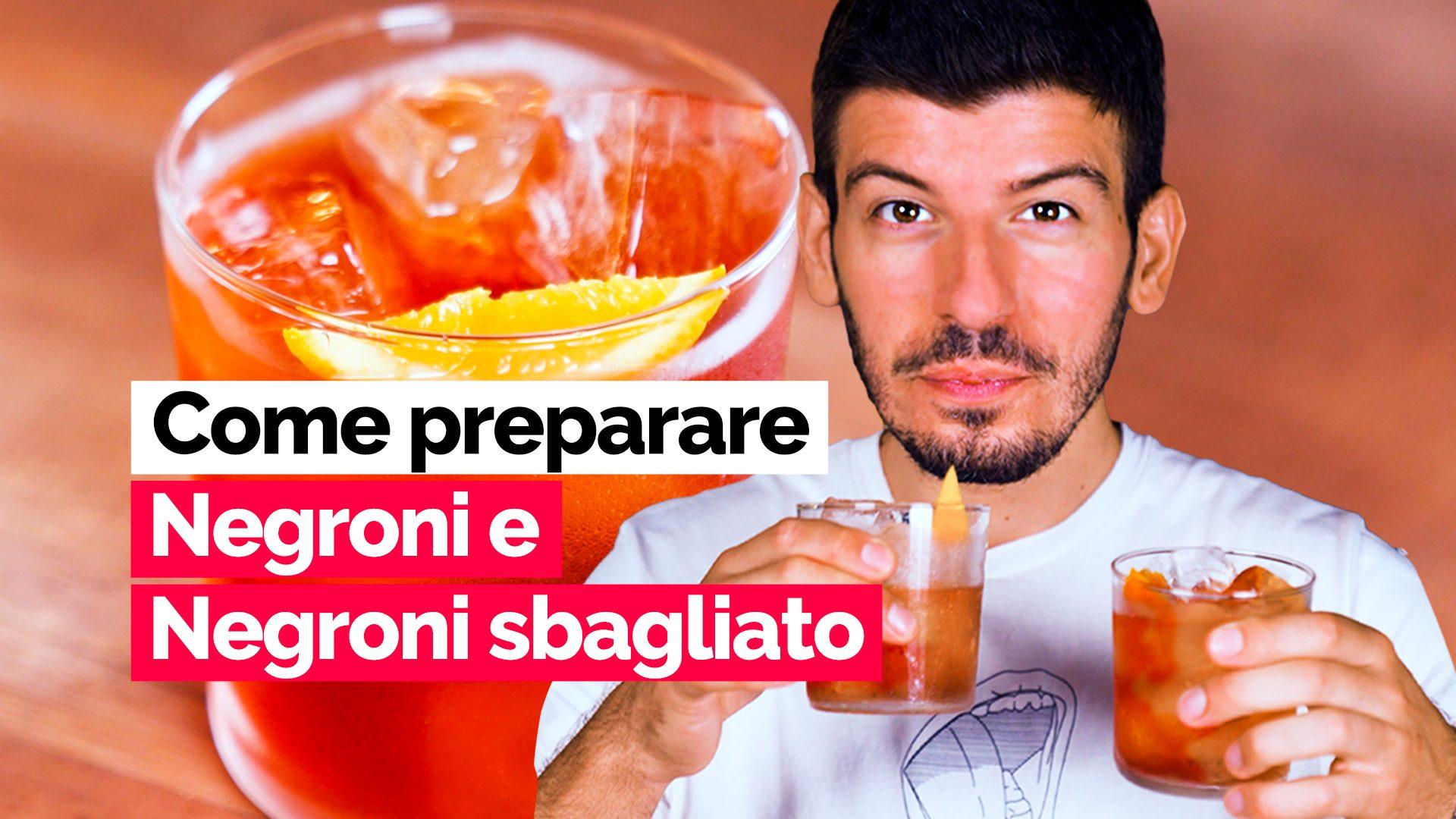 Negroni o Negroni sbagliato? La video-ricetta di uno dei migliori bartender d'Italia