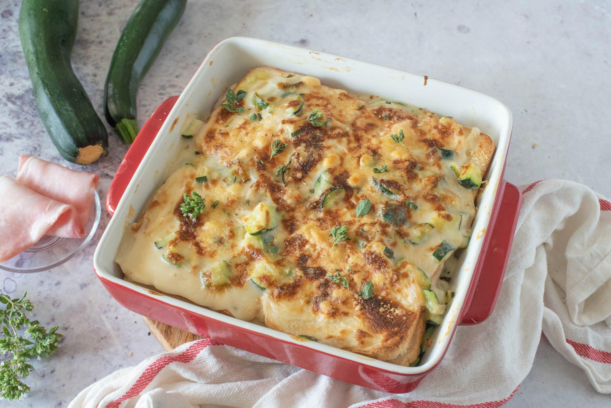 Lasagne di pancarrè con zucchine formaggio