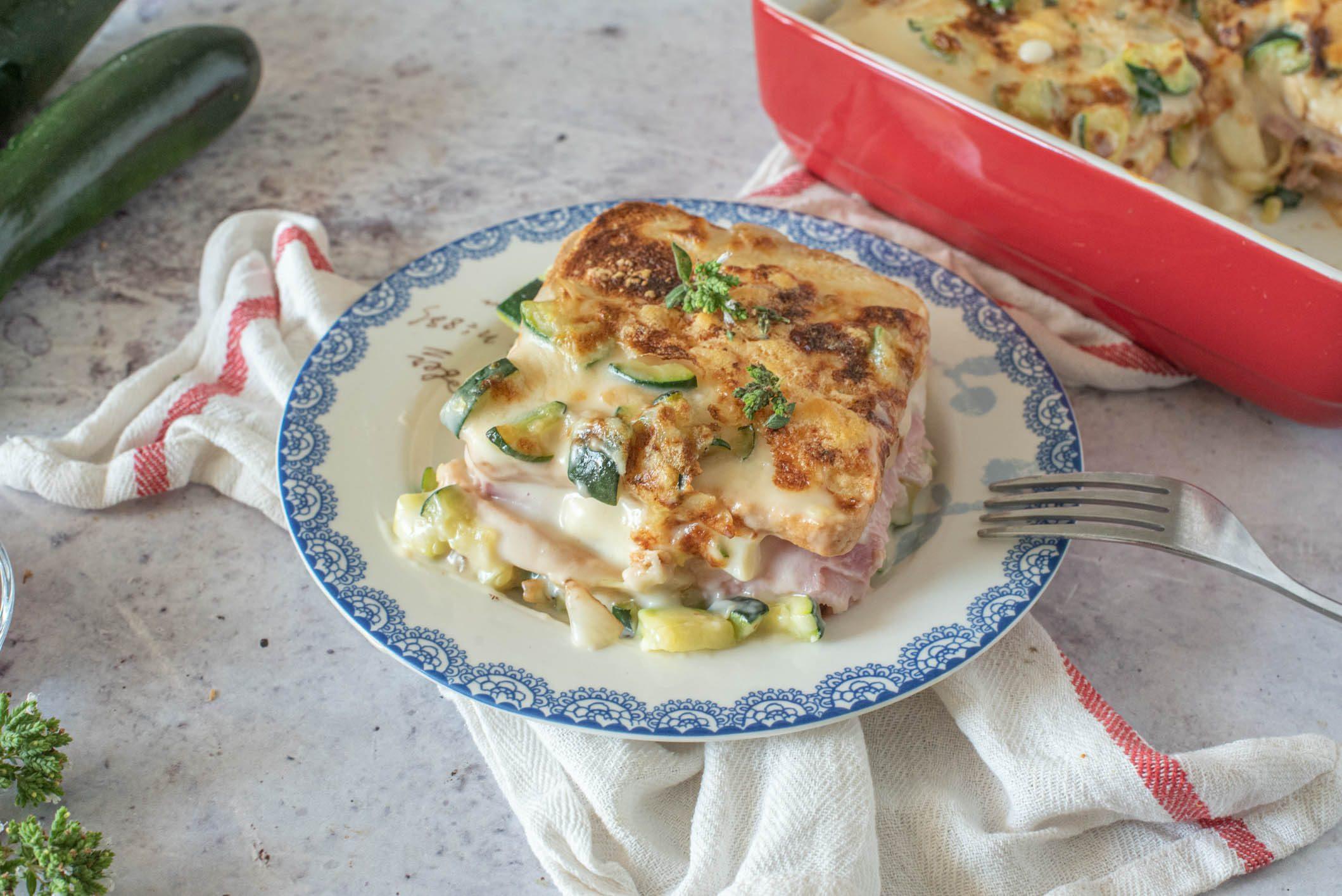 Lasagne di pancarrè con zucchine e formaggio: la ricetta semplice e golosa