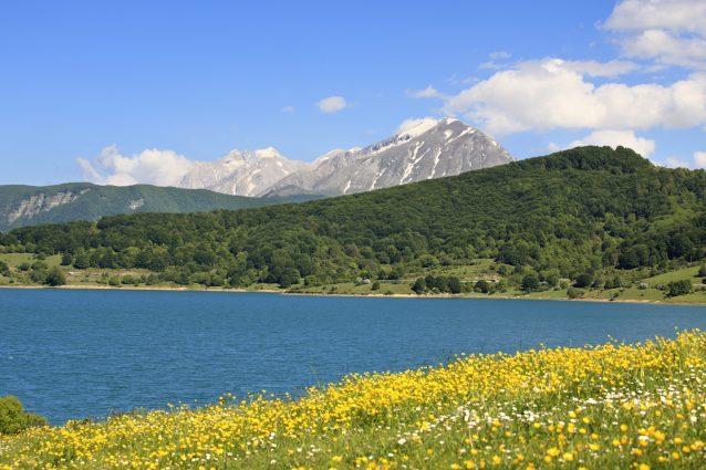 lago di Campotosto gran sasso mortadella