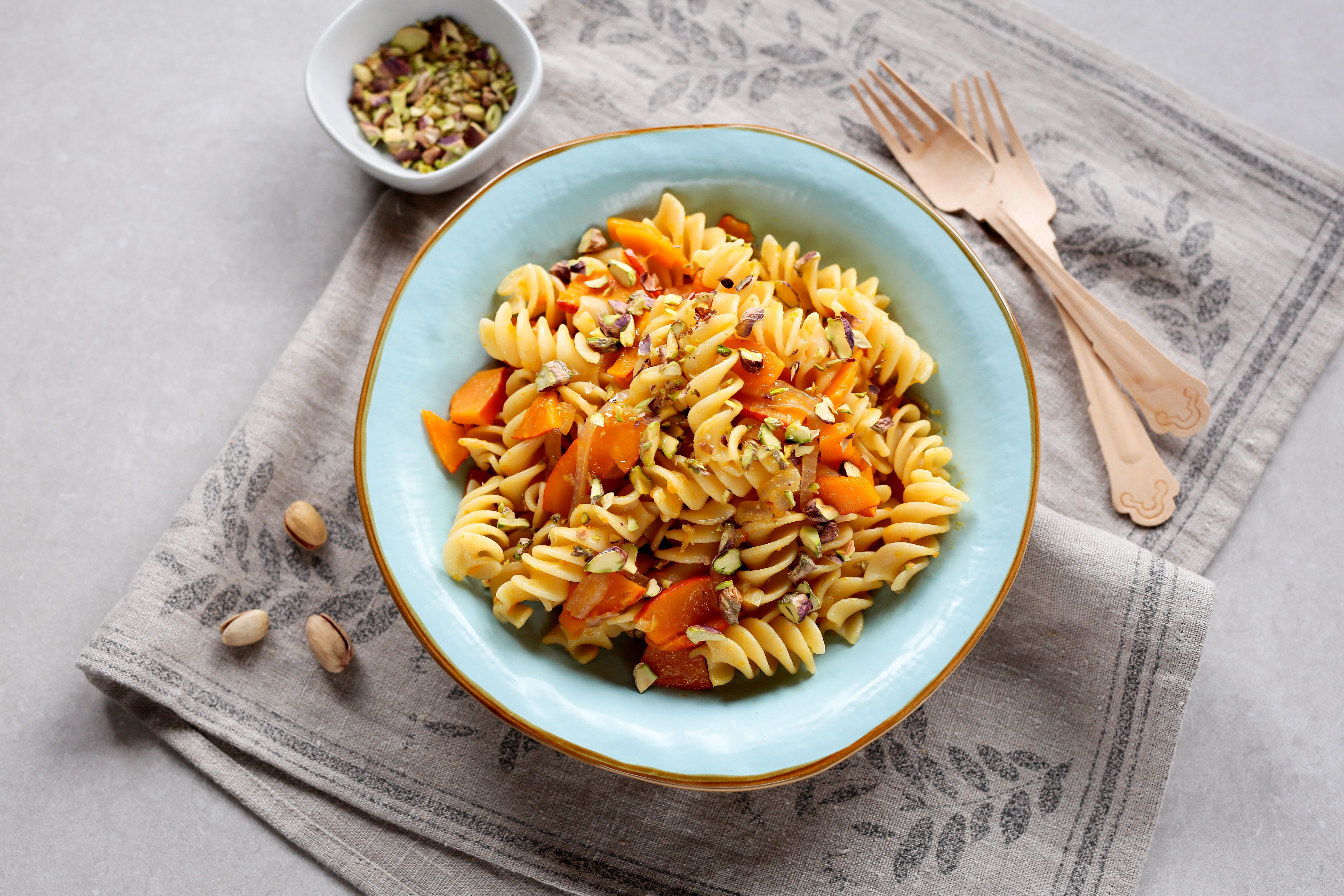 Fusilli con zucca e pistacchi: la ricetta del piatto perfetto per l'autunno