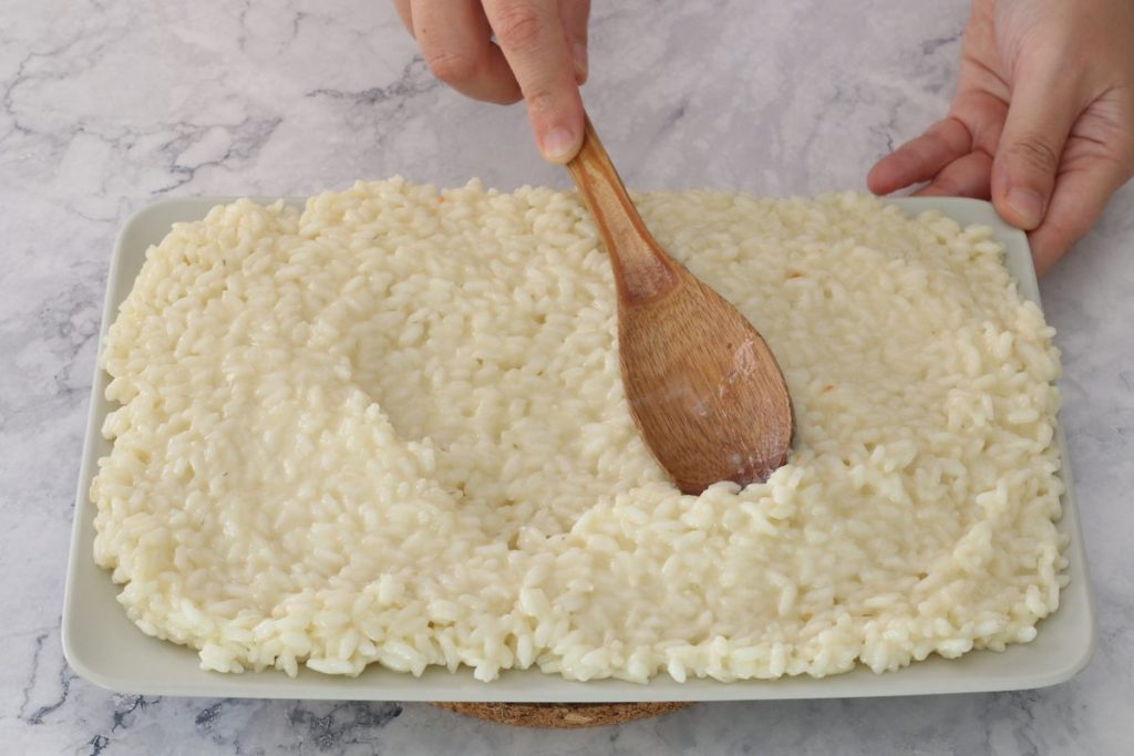 stendere risotto