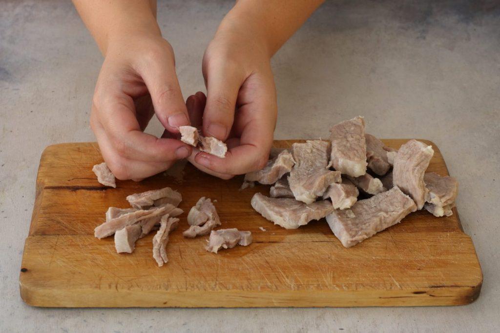 sfilacciare la carne