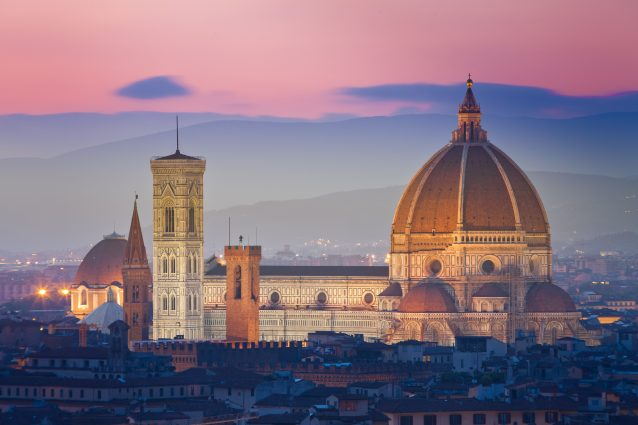 Firenze cupola Brunelleschi tramonto