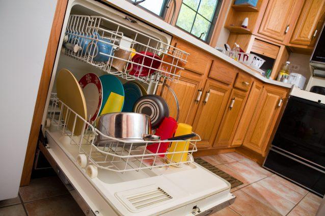 lavastoviglie in cucina piatti