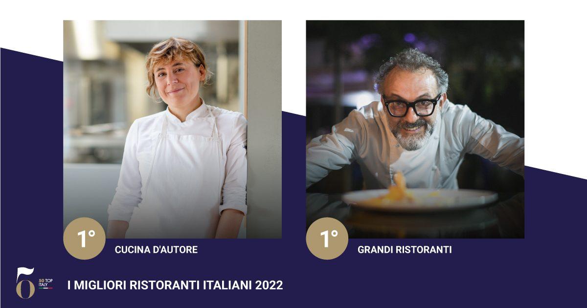 Massimo Bottura e Antonia Klugmann ai primi posti della 50 Top Italy 2022